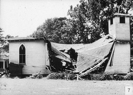 Society Hill Baptist Church, bombed on 9/20/64.