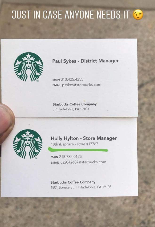 the starbucks manager who racially profiled black men is allegedly